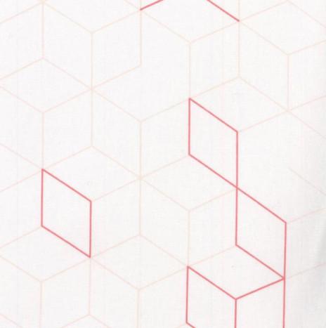 Oilcloth – Cubes Coral