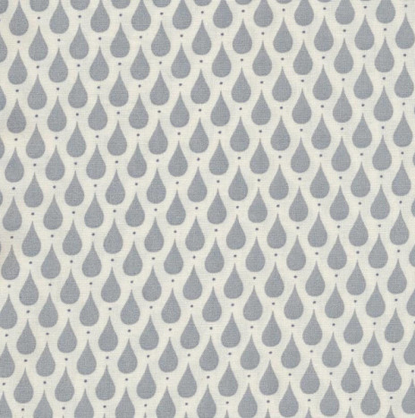 Oilcloth – Teardrops Dusty Blue