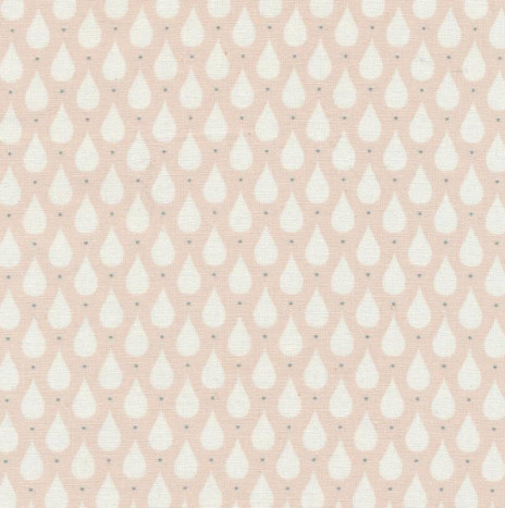 Oilcloth – Teardrops Soft Rose