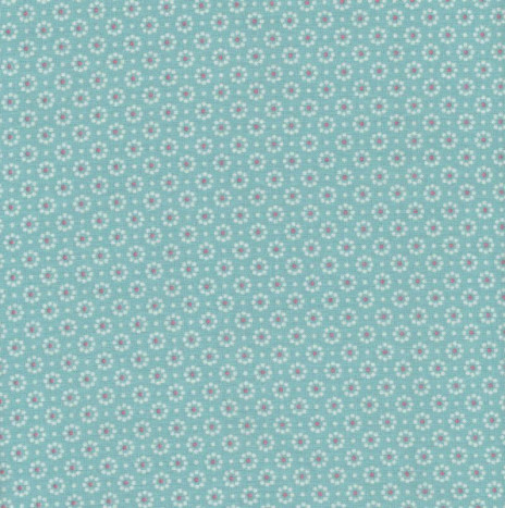 Oilcloth – Belle Fleur Aqua Sky