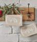 Mr And Mrs Wooden Chair / Hanging Signs - Boho