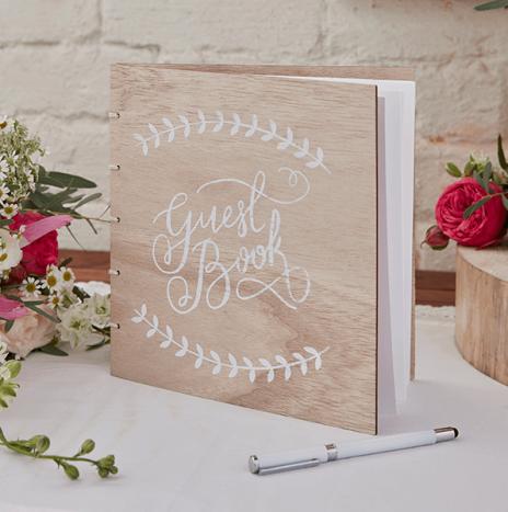 Wooden Guest Book – Boho