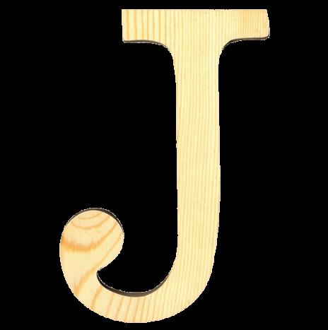 Wooden Letter J