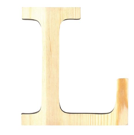Wooden Letter L