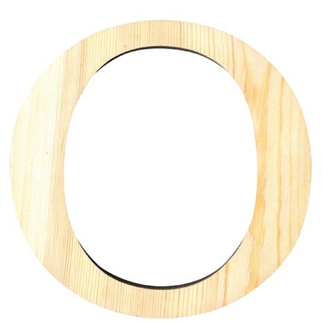 Wooden Letter O