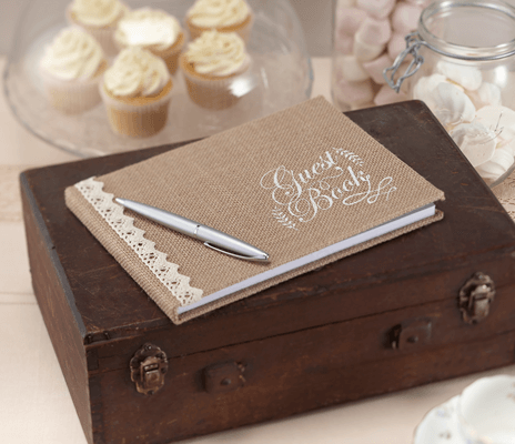 Hessian Burlap Guest Book – Vintage Affair