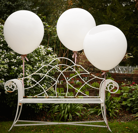White 91,45CM Feature Balloons- Vintage Affair