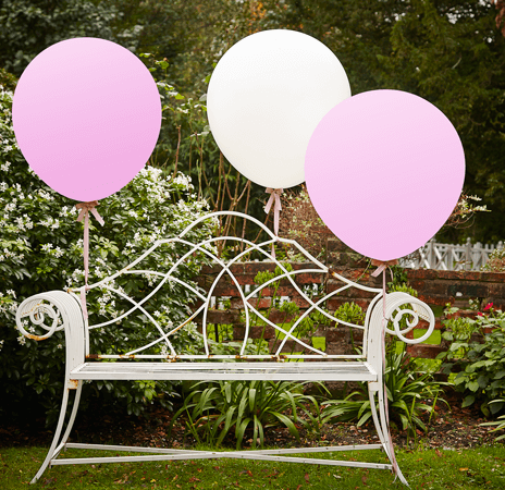 White & Pink 91,45cm Feature Balloons- Vintage Affair