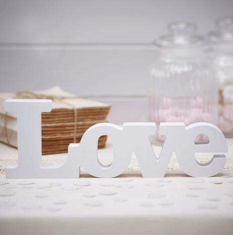 Wooden Love Sign – Vintage Affair