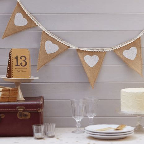 Hessian & Lace Bunting – Vintage Affair