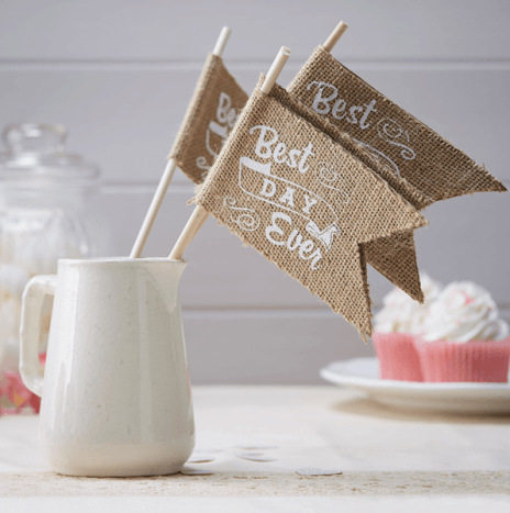 Best Day Ever Hessian Flags – Vintage Affair