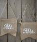 Mr & Mrs Hessian Flags - Vintage Affair
