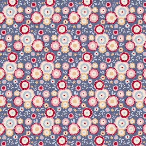 Candyflower Stone Blue  – Candy Bloom by Tilda