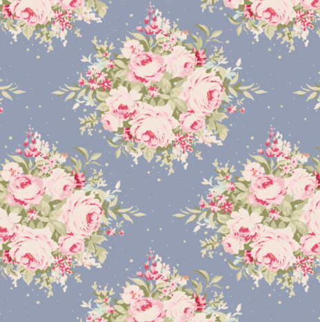 Floribunda Blue – Sweet Heart by Tilda