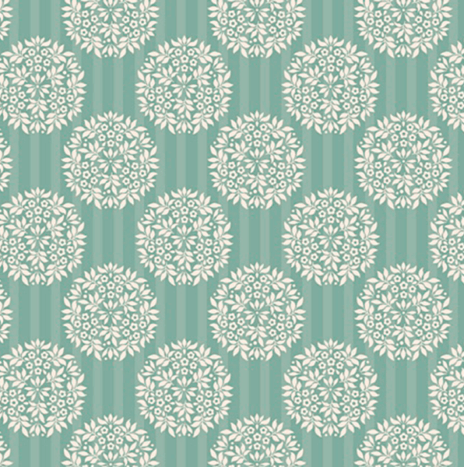 Flower Ball Teal – Spring Lake by Tilda