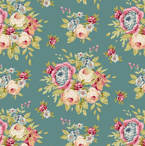 Garden Flower Ocean Green – Spring Diaries by Tilda