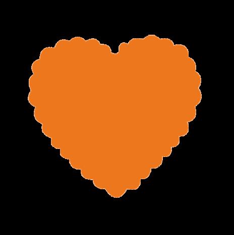 Punch Scallop Heart  3,5cm