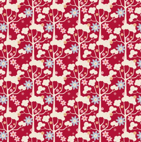Wildgarden Red  – Candy Bloom by Tilda