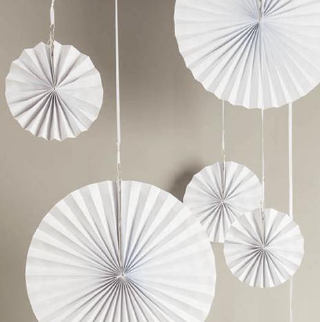 Paper Wheels White- Set 3