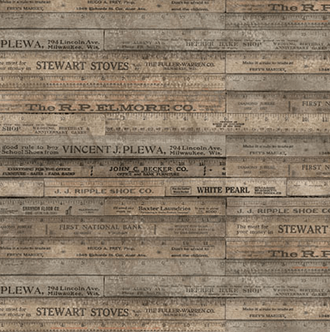 Tim Holtz – Foundations Rulers Brown