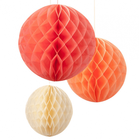 Set 3 HoneyBall Decor – Blush Mix