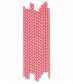 Paper Straws Chevron Red