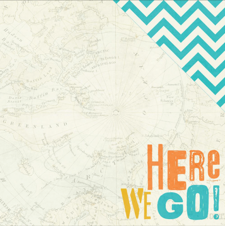 You Are Here –  Here We Go by Simples Stories
