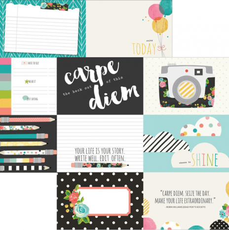 Carpe Diem – 4×6 Horizontal Elements by Simples Stories
