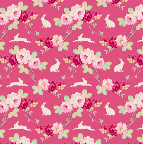 Rabbit & Roses Pink – Cabbage Rose by Tilda