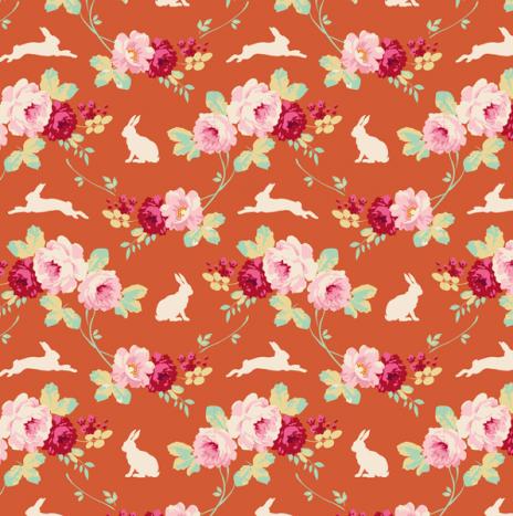Rabbit & Roses Ginger – Cabbage Rose by Tilda