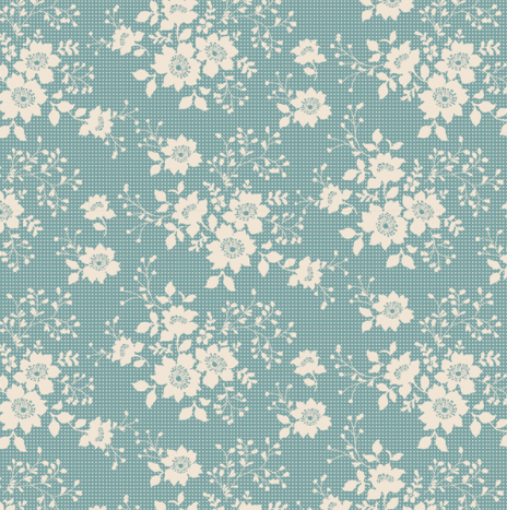 Libby Teal – Cabbage Rose by Tilda