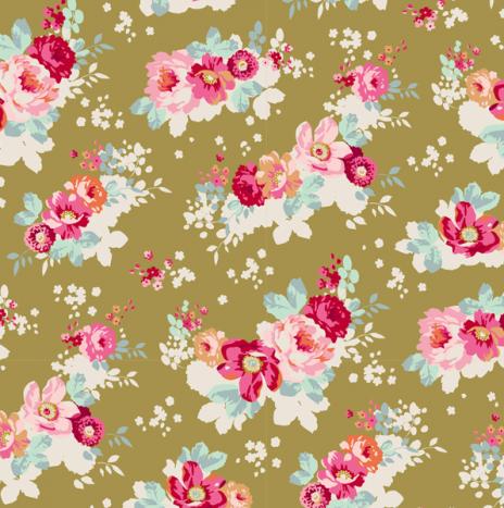 Flowercloud Olive – Memory Lane by Tilda