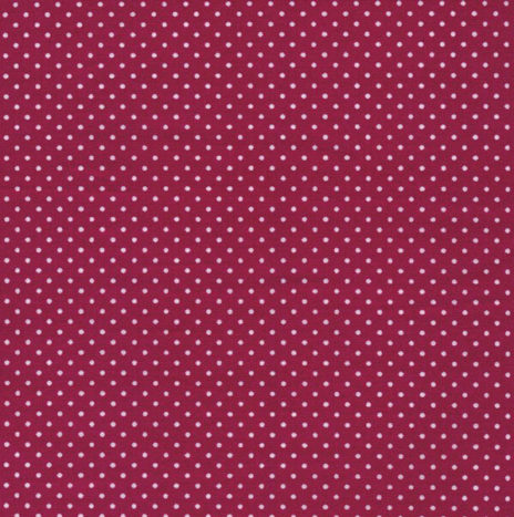 Oilcloth Dots Cherry