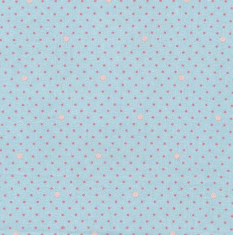 Oilcloth Dottie Dot Aqua Sky