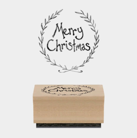 Rubber Stamp -Round Christmas