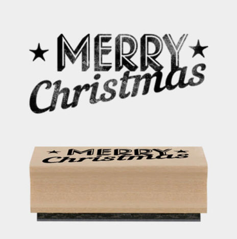 Rubber Stamp -Merry Christmas