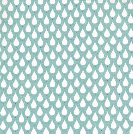 Oilcloth Teardrops Agua Sky
