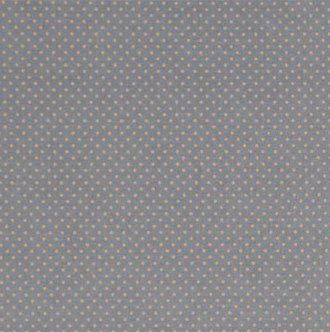 Oilcloth Dots Dark Grey Mustard