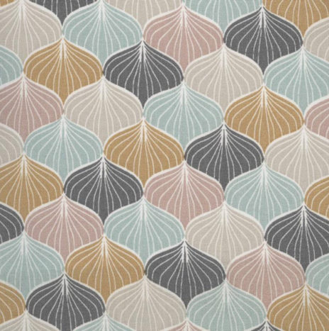 Oilcloth Alli Charcoal Mustard