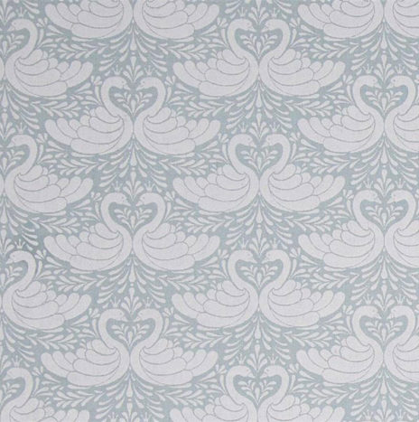 Oilcloth Swan Dusty Turquoise